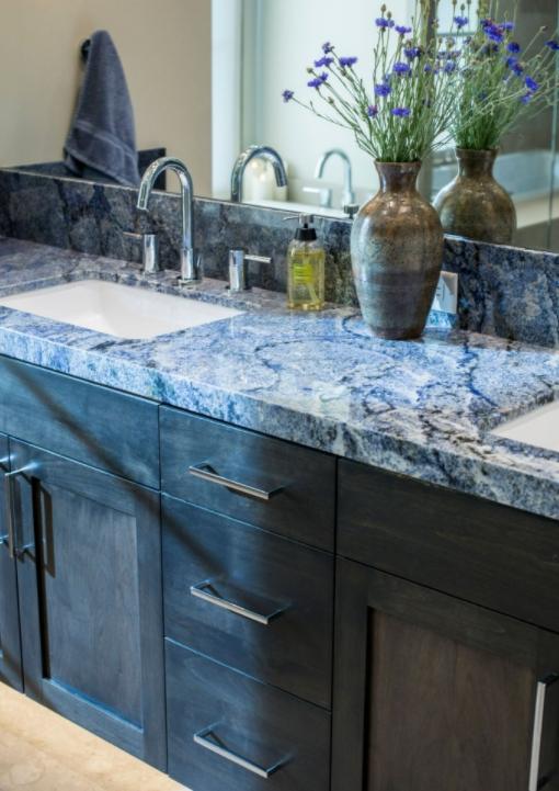 Blue Bahia Granite In Your Bathroom