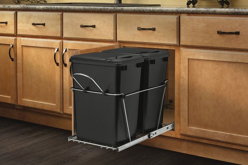 Best Minimalist Trash Bin Cabinet- Stainless Steel Pull out Trash Can