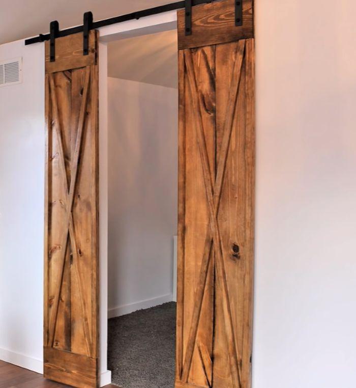 DIY $60 Double Barn Door