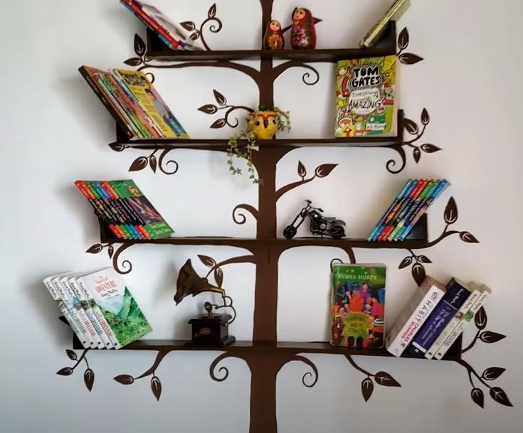 A super simple tree bookshelf