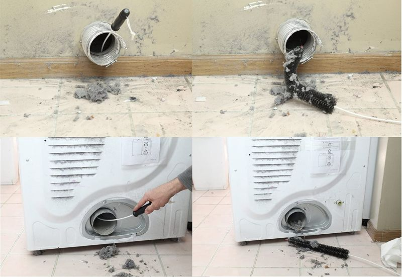 Dryer Vent Cleaner Kit Vacuum Attachment And Dryer Vent Brush