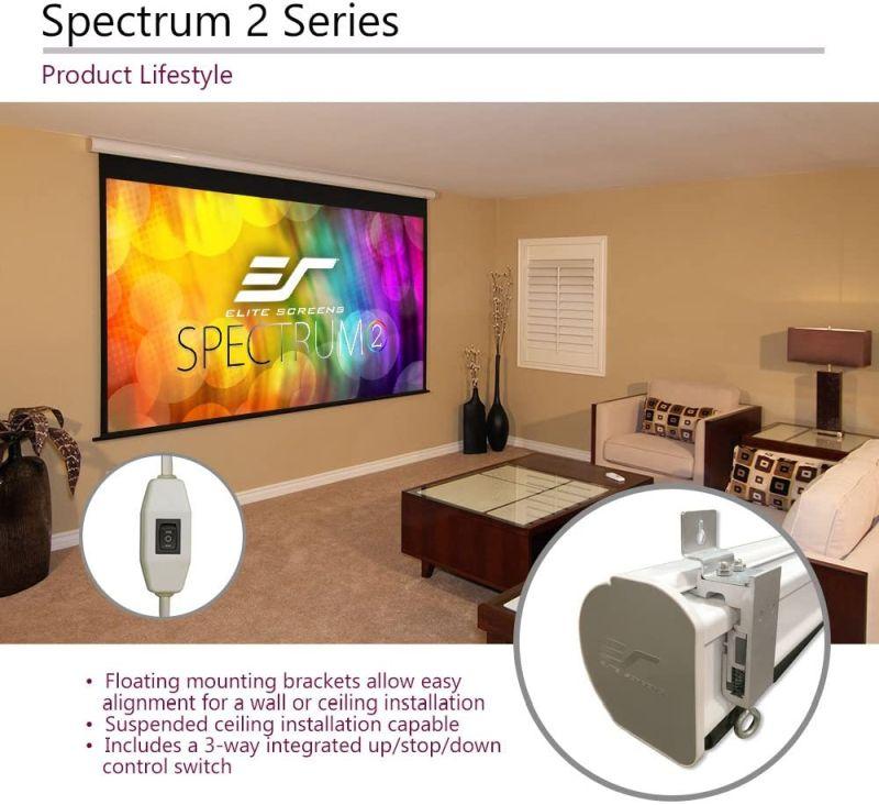 Elite Screens Spectrum2 Motorized Projector Screen - Best Motorized Pull-Down Projector Screen