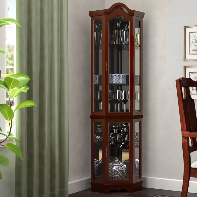 Erastus Lighted Curio Cabinet