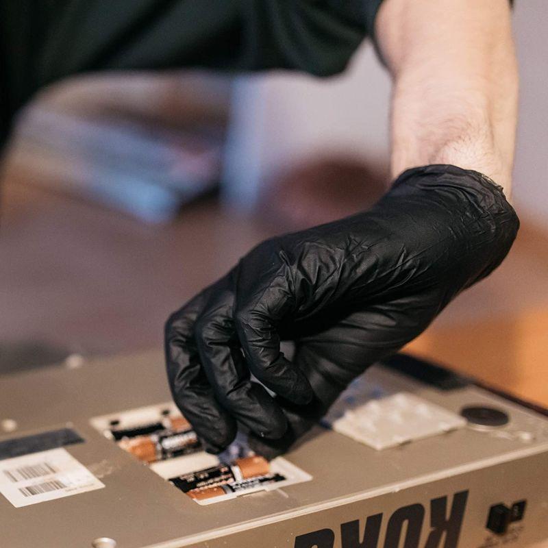 GLOVEWORKS Industrial Black Nitrile Gloves