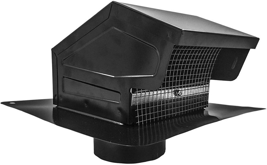 Galvanized Steel Roof Vent Cap with Removable Screen & Damper