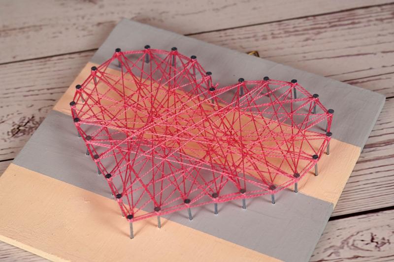 heart-shaped nail string art