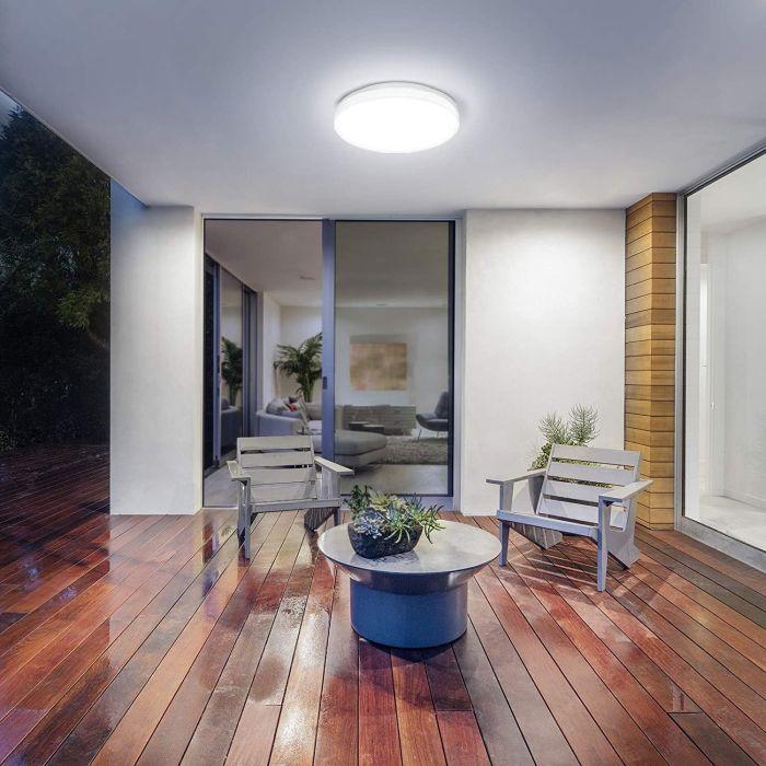 LE Flush Mount LED Ceiling Light for Bathroom Porch