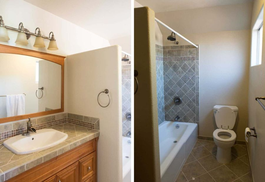 Light and airy bathroom remodel