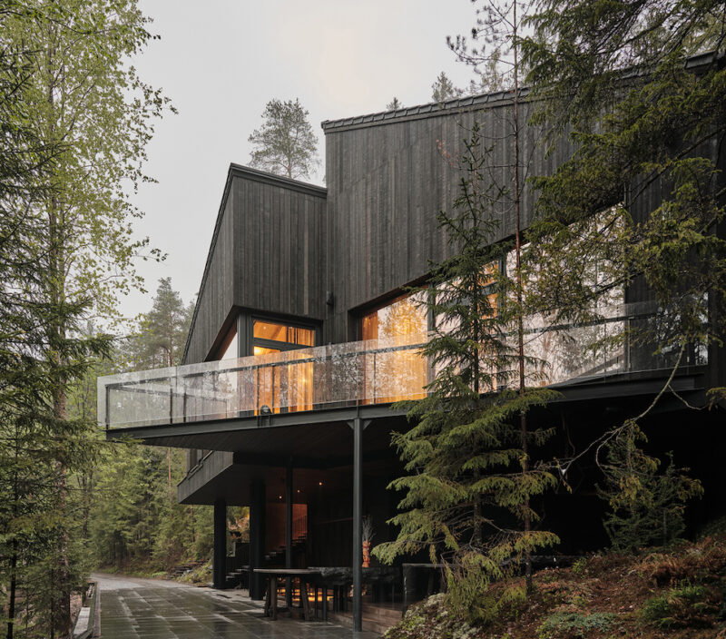 This Modern House is Clad in Black and Feels Like Part of the Russian Forest