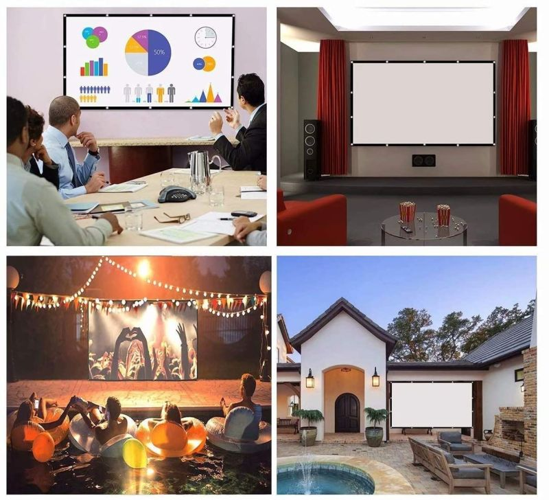 P-JING Store Projector Screen - Cheapest Pull-Down Projector Screen