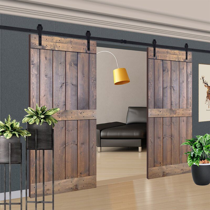 Paneled Manufactured Wood Painted Barn Door