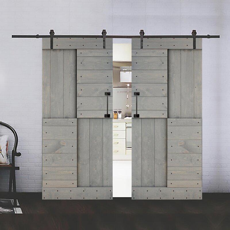 Paneled Wood Diy Knotty Barn Door