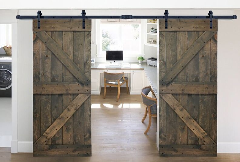 Paneled Wood K Series DIY Knotty Barn Door