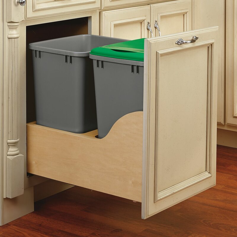 Best Wooden Trash Bin Cabinet -Pull Out Trash Can