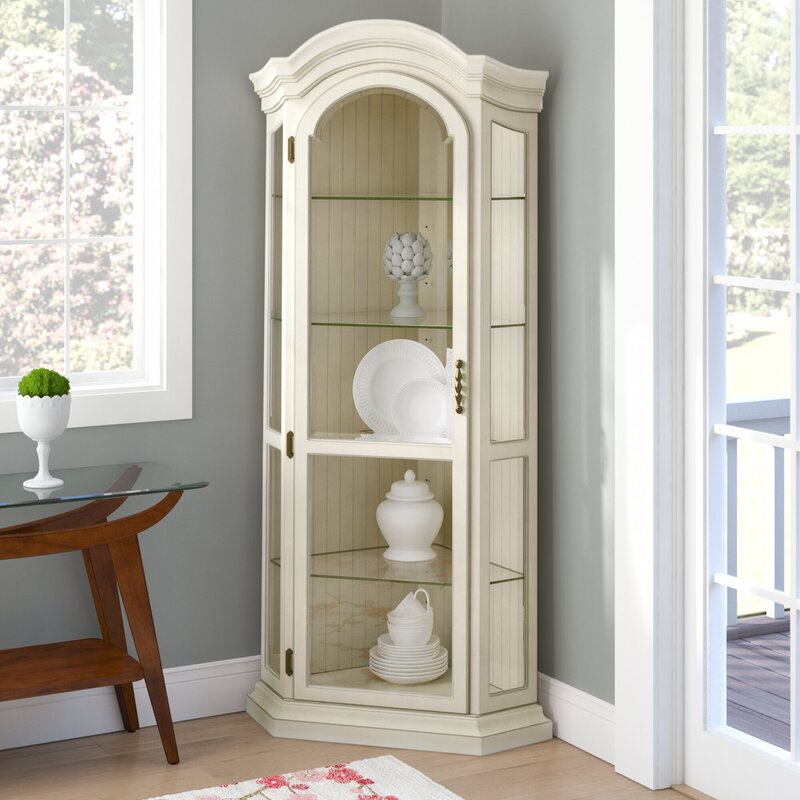 Shelia Corner Curio Cabinet