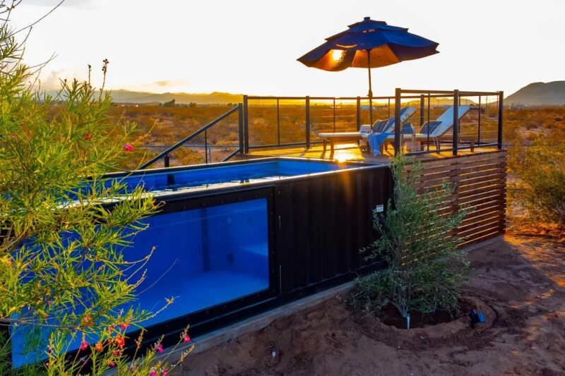 A Charming Desert Retreat With Its Own Shipping Container Swimming Pool