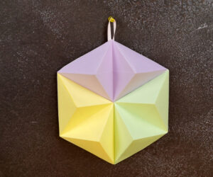 3D Origami Paper Wall Decor Made From Scratch