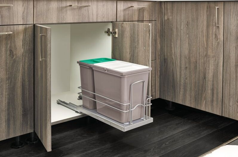 Best Under-the-Sink Trash Bin Cabinet - Stainless Steel Pullout Trash Can