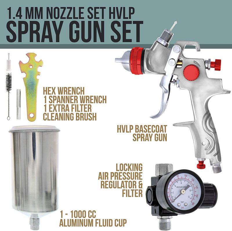 TCP Global Professional Gravity Feed HVLP Spray Gun