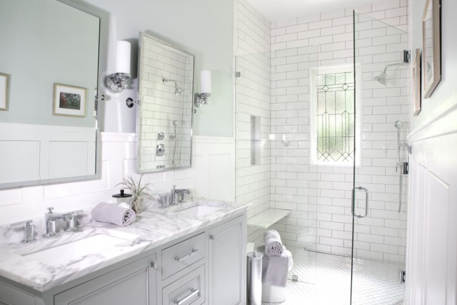 White subway tiles for a classic look