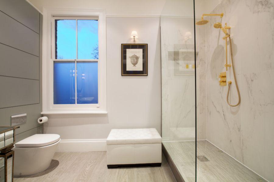 An elegant raised shower design