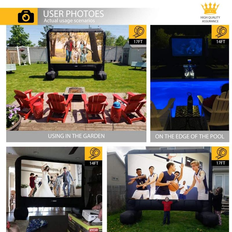 VIVOHOME Projector Screen - Best Pull-Down Projector Screen for Outdoor Use