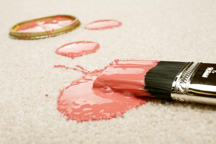 Wet Vs. Dry Paint on Carpet