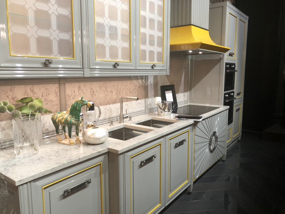 Grey and yellow for kitchen decor