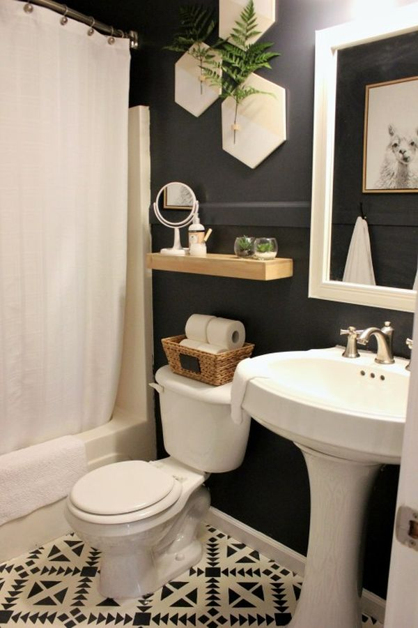 A small bathroom renovation design with depth and character