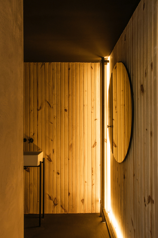 The LED strips make the bathroom look particularly cozy and inviting