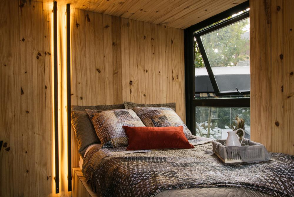 The bedroom loft has operable windows from ventilation