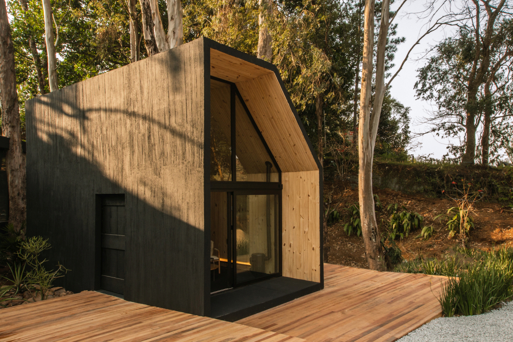 The Cabana has a simple and contemporary design with an asymmetrical geometry