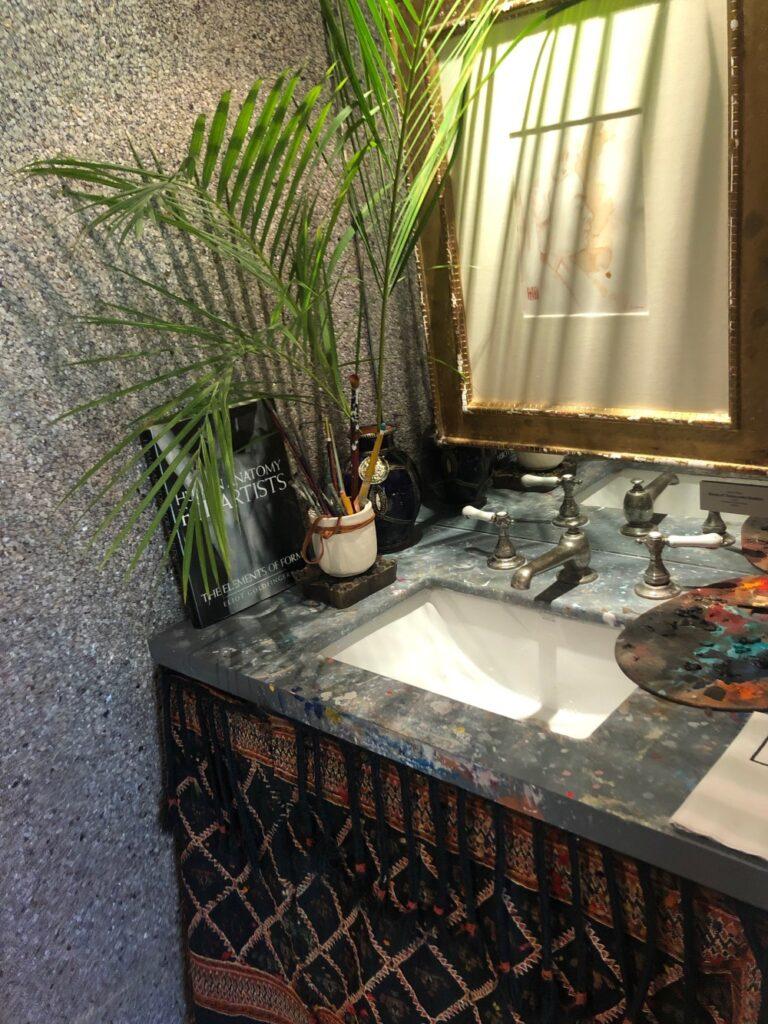 Add plants for bathroom sink