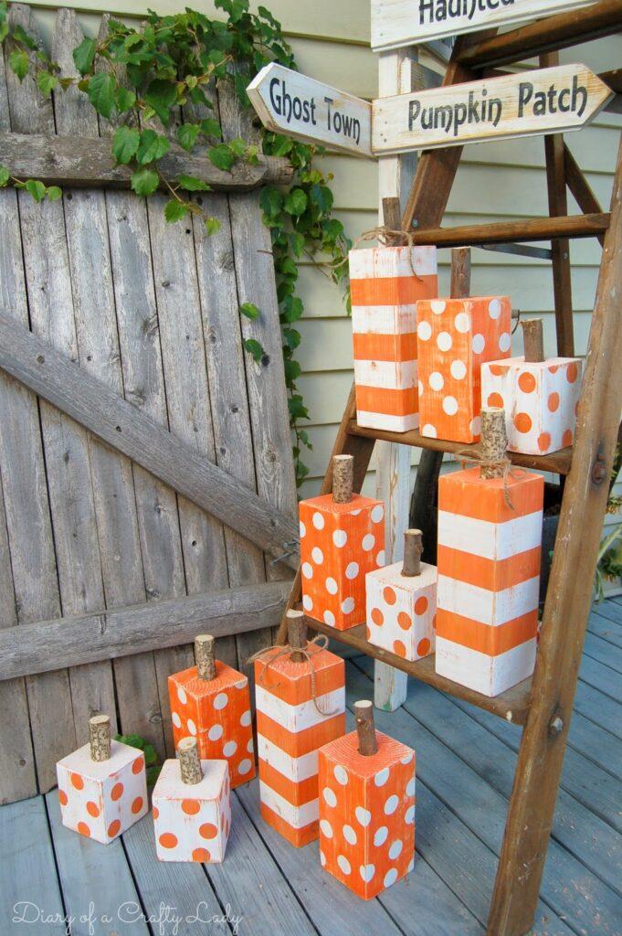 Adorable 4x4 DIY Pumpkin Decor