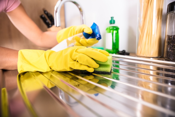 Clean stainless-steel surfaces