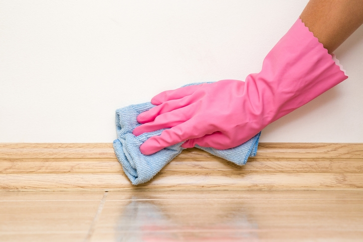Baseboard cleaning hack