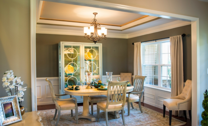 Decorating with Olive Sprig Color in Your Dining Room