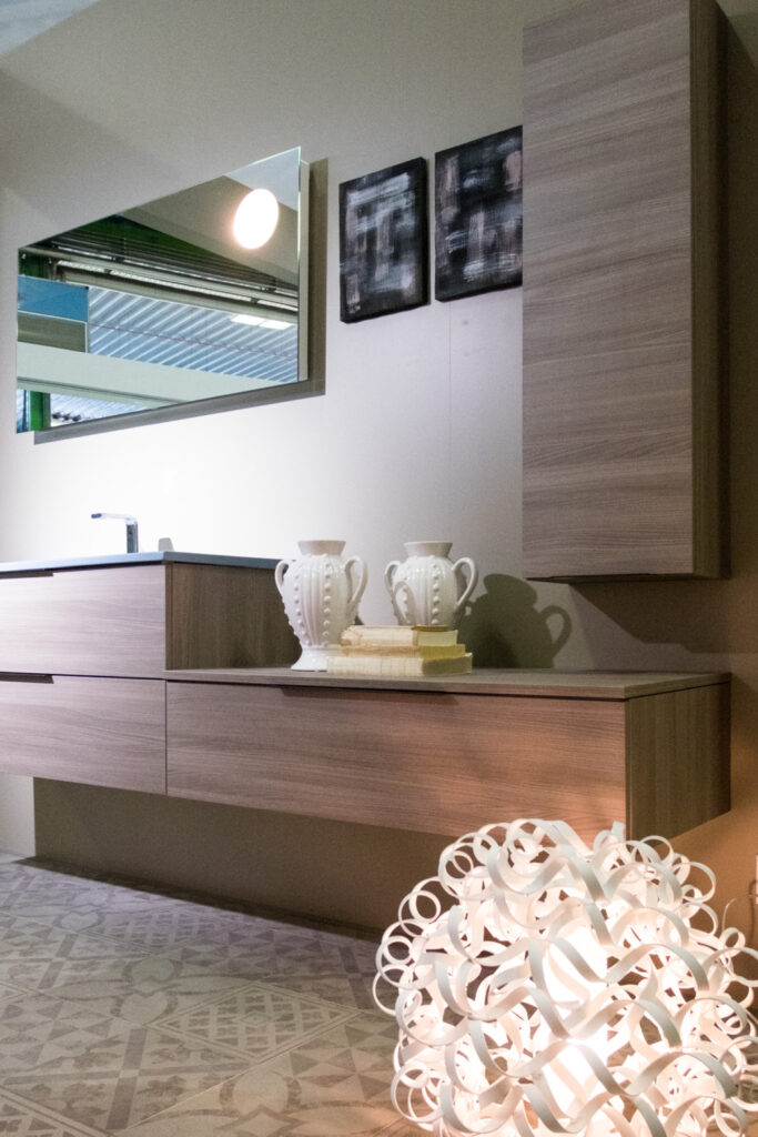 Floating shelves and cabinets