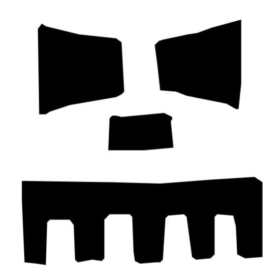 Franken Jack Pumpkin Carving Template