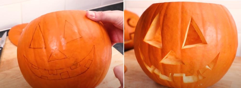 How do you carve a pumpkin easily