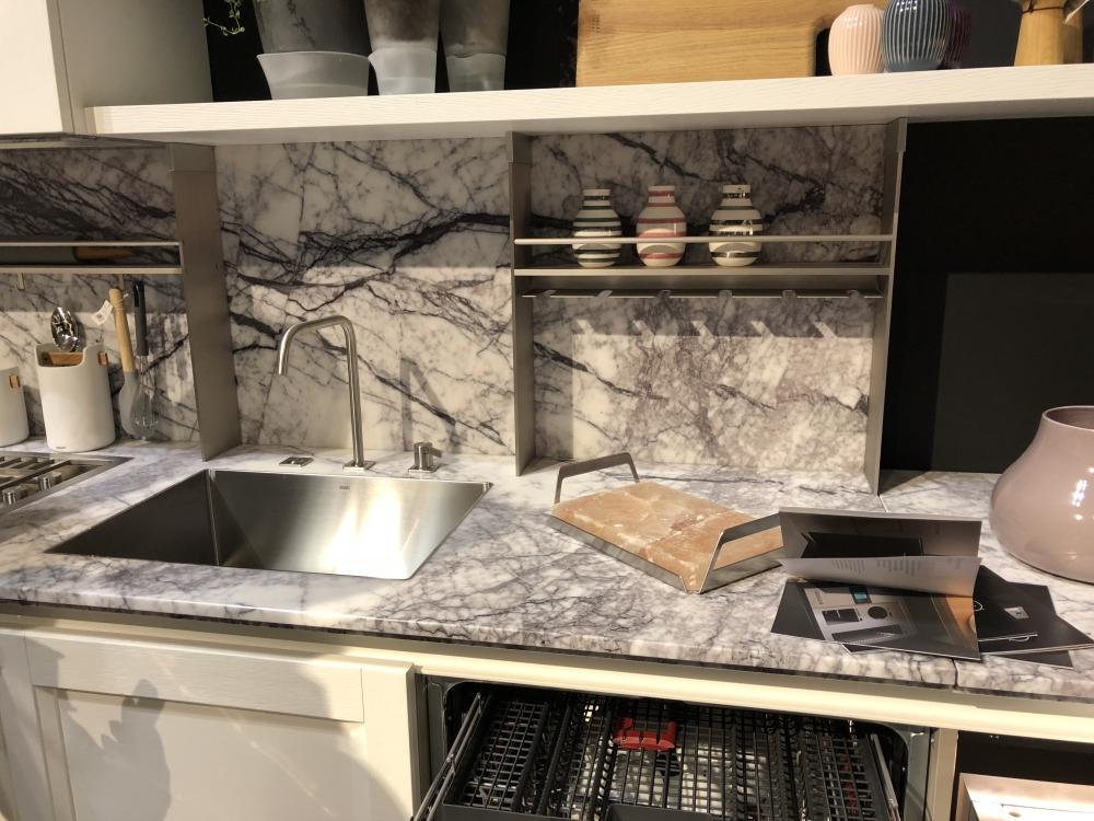Marble kitchen storage and organization