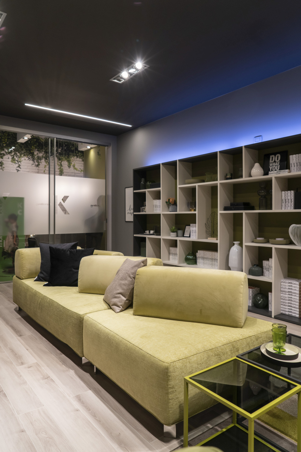 Green couch decor