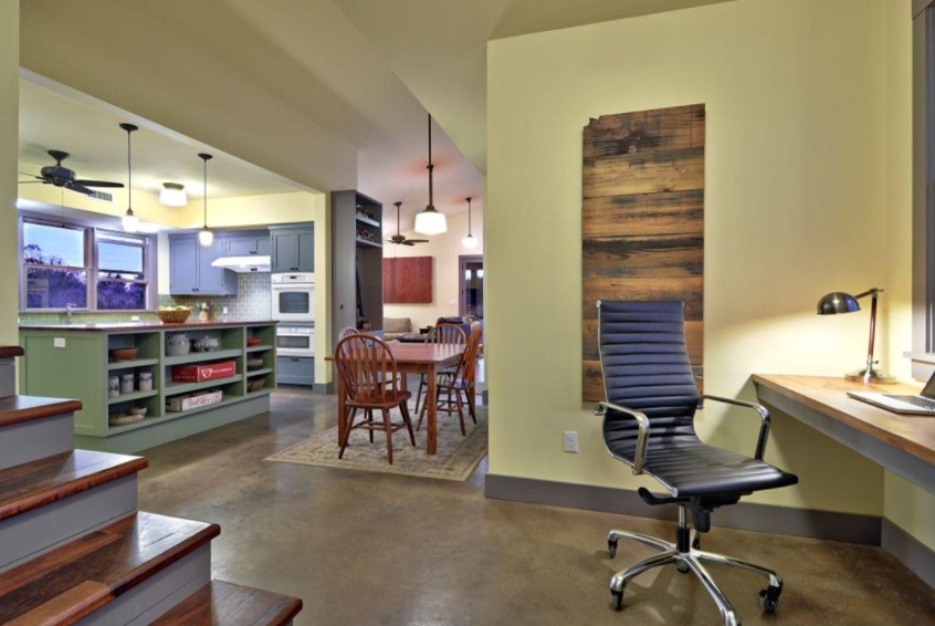 Decorating Your Home Office with Olive Sprig Color