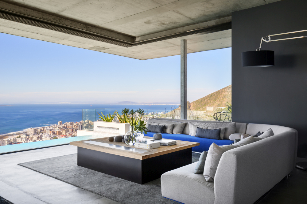 The simple materials and muted colors put all the emphasis on this spectacular view