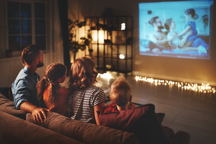 Create an Awesome Home Theater with a Pull Down Projector Screen