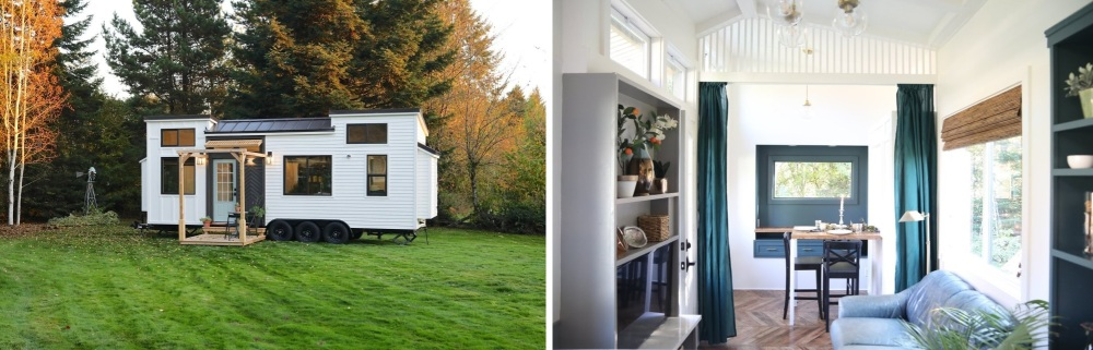 Tiny House With Board and Batten Siding