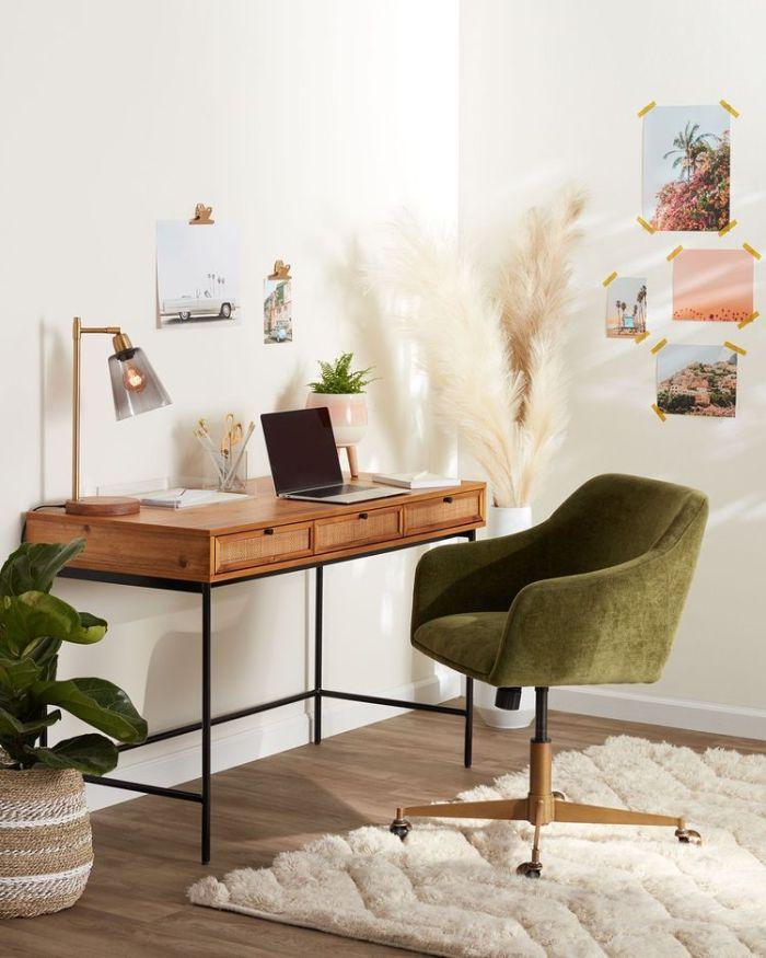 World Market- classic desk with fluffy carpet - ikea alternative
