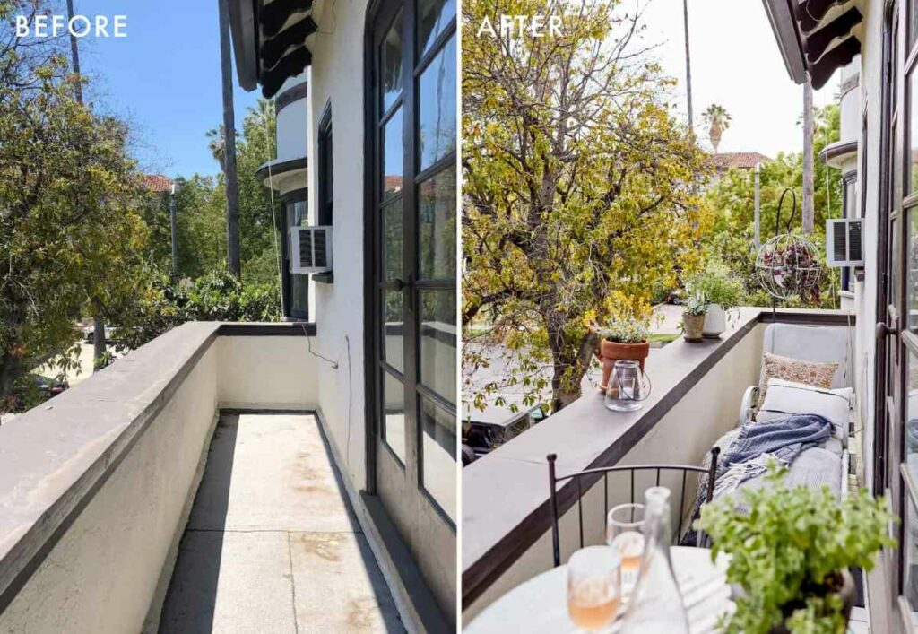 Patterns to decorate a small balcony