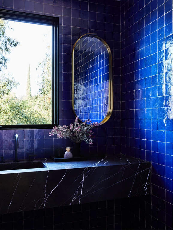 How To Use Blue Bathroom Tiles In A Way That Isn't Boring