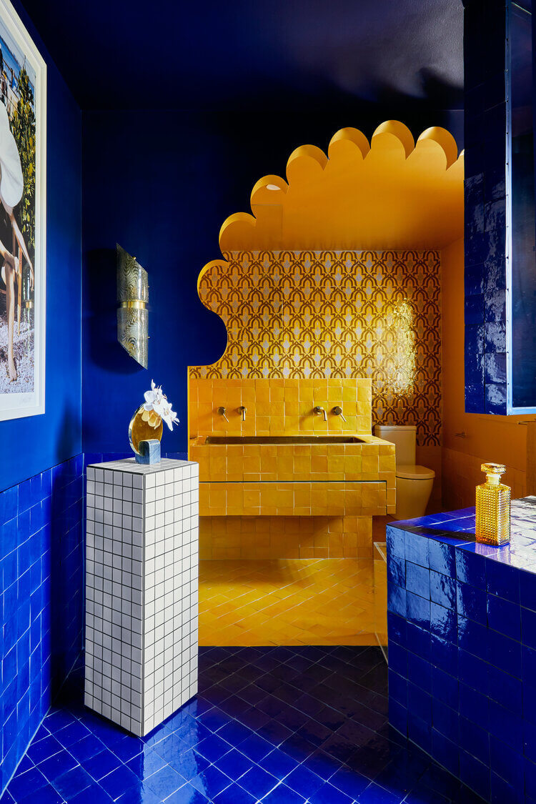 Bold colors and patterns Bathroom tiles